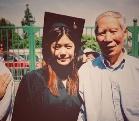 陈妍希校园照公布 加利福尼亚大学毕业照显清纯