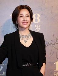 <b>60岁刘晓庆低胸西装现身 俯身大秀事业线</b>