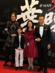 <b>《叶问3》香港首映 甄子丹不反对子女当演员</b>