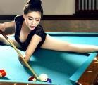 孙菲三围照片 柔术美女拍桌球写真秀长腿翘臀